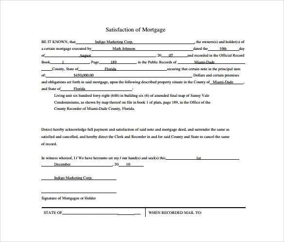 what is a mortgage document