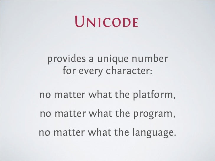 what is a unicode text document
