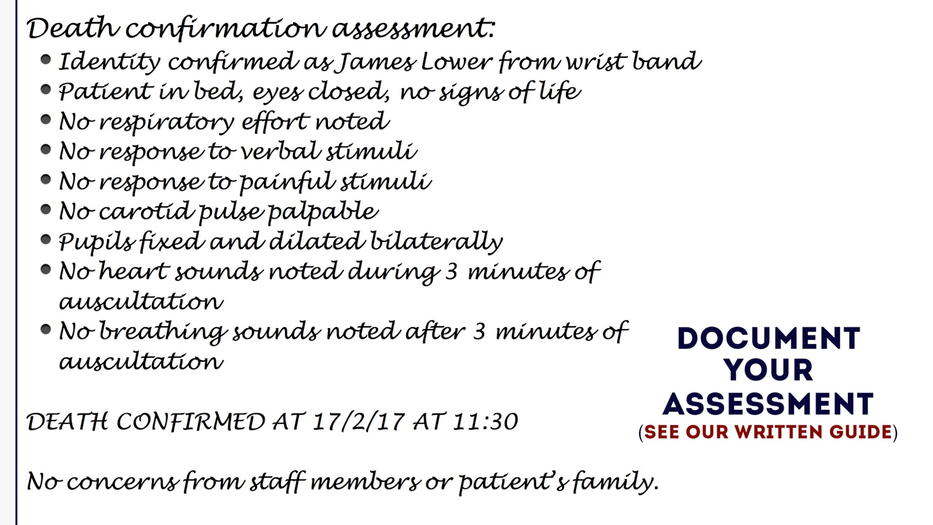 what is the official document that documents your death