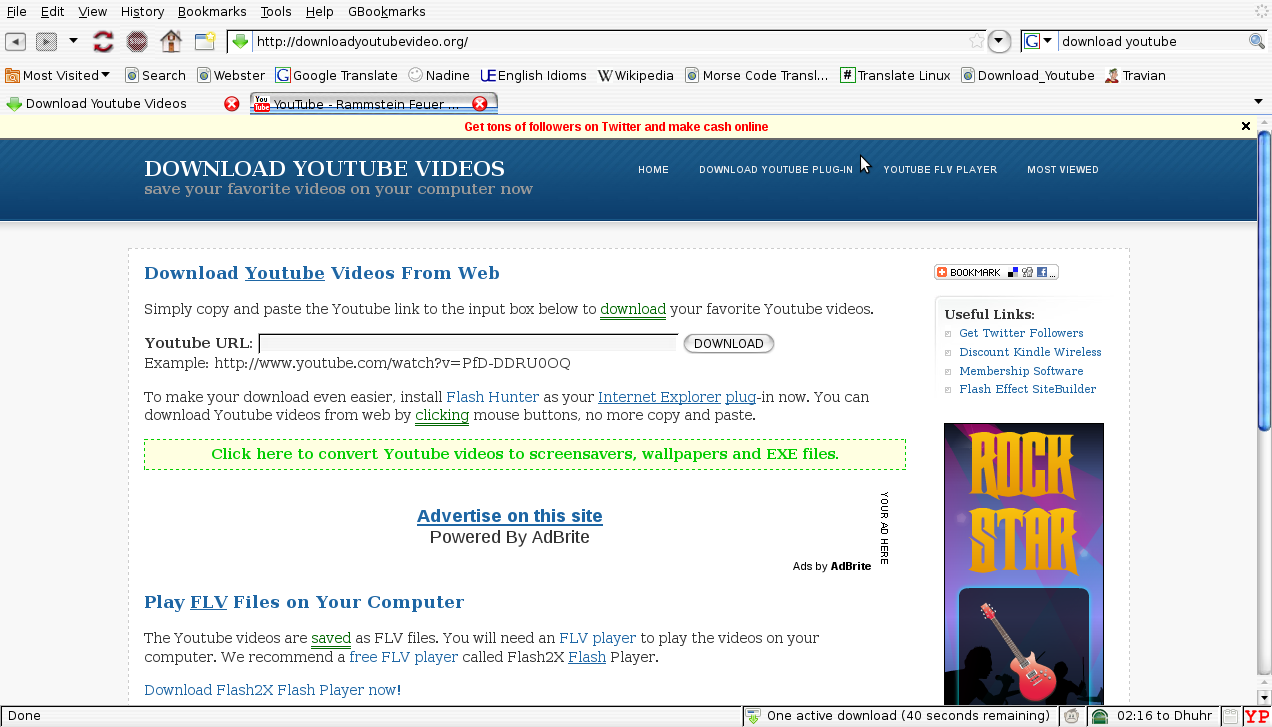 word 2010 youtube link document