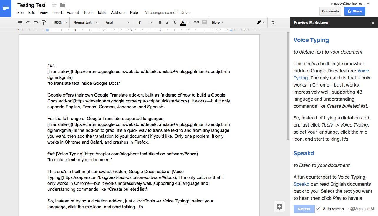 word document into google docs